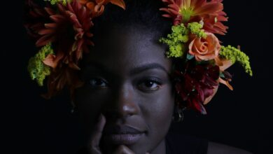 Black Woman With A Flower Crown