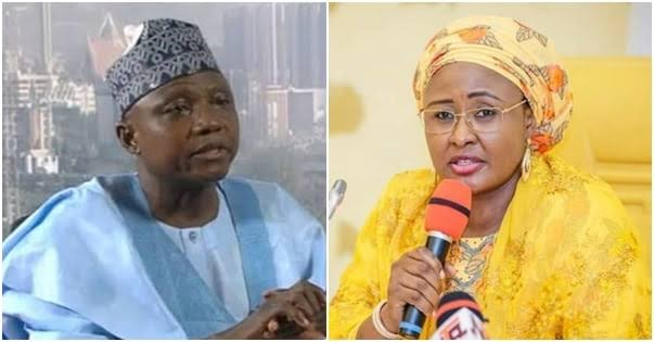 Aisha Buhari, Garba Shehu Reconcile At Son's Wedding 1