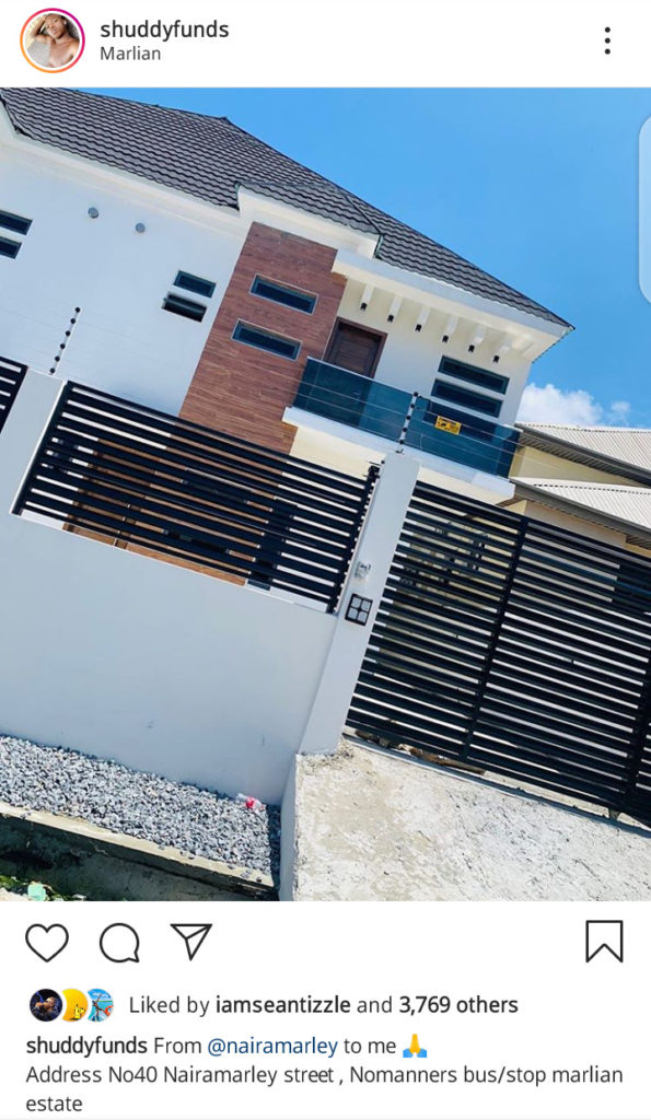 Naira Marley Builds New House For His Brother