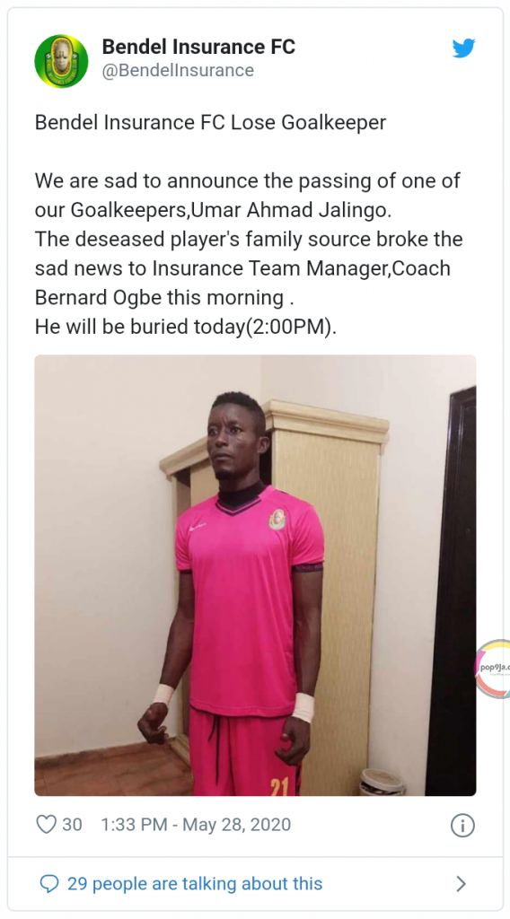 Another 27-Year-Old Npfl Player Dies 1