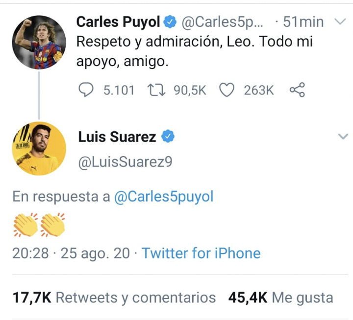 Carles Puyol Supports Messi's Decision 1
