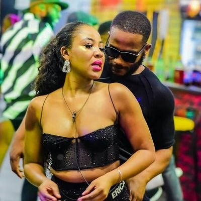 Erica and Kidd Waya during one of the Friday's night party of the Big Brother Naija show.