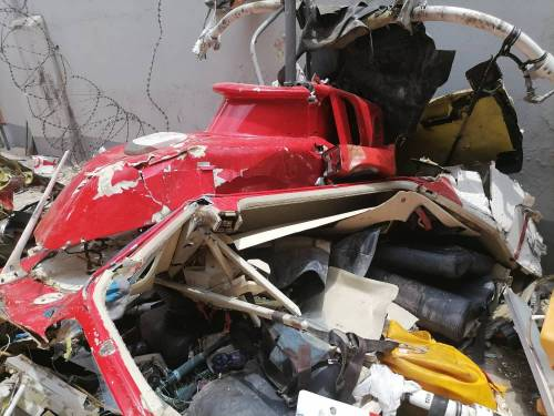 Helicopter Crash Kills 2 Inside Lagos Building (Photos) 1
