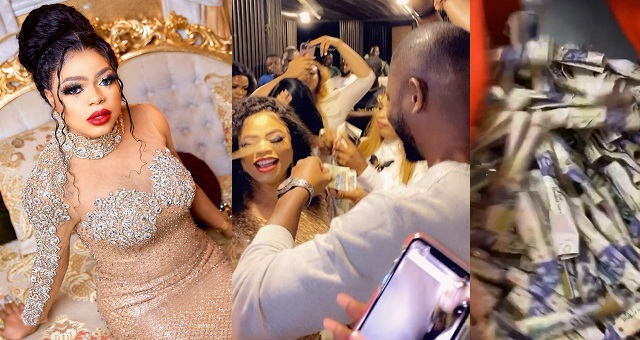 Bobrisky Shows Off Cash He Got At His Birthday Party 1