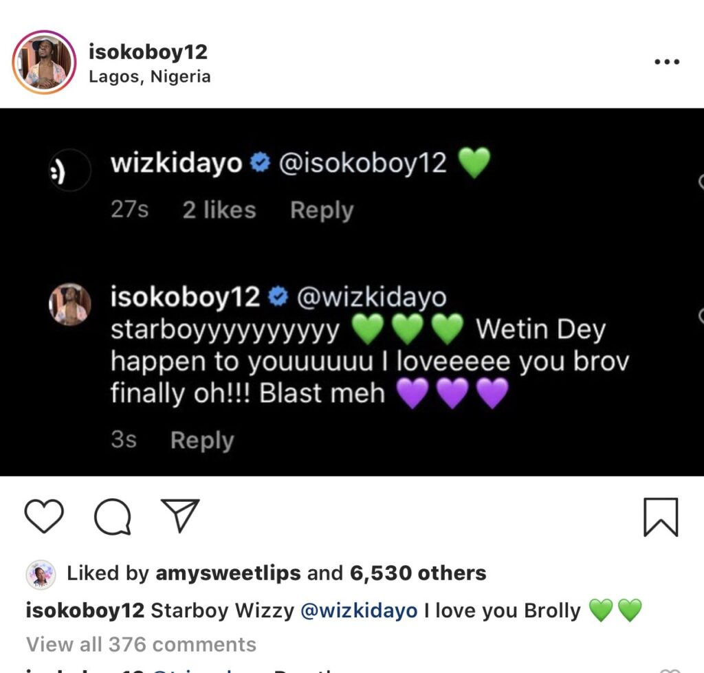Fan excited after he got a reply from Wizkid