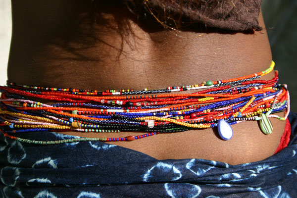 Waist Beads On An African Lady