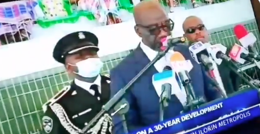 Confusion As Obaseki'S Aide-De-Camp Faints During 2Nd Term Inauguration Ceremony 1