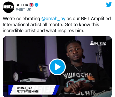 Bet Celebrates Omah Lay As Amplified International Artiste Of The Month 1