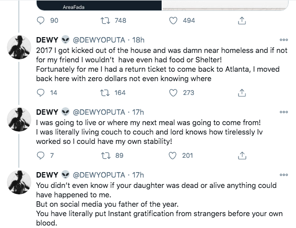 Dewy, Charly Boy'S Daughter Blasts Him For Lying About Accepting Her Sexuality 5