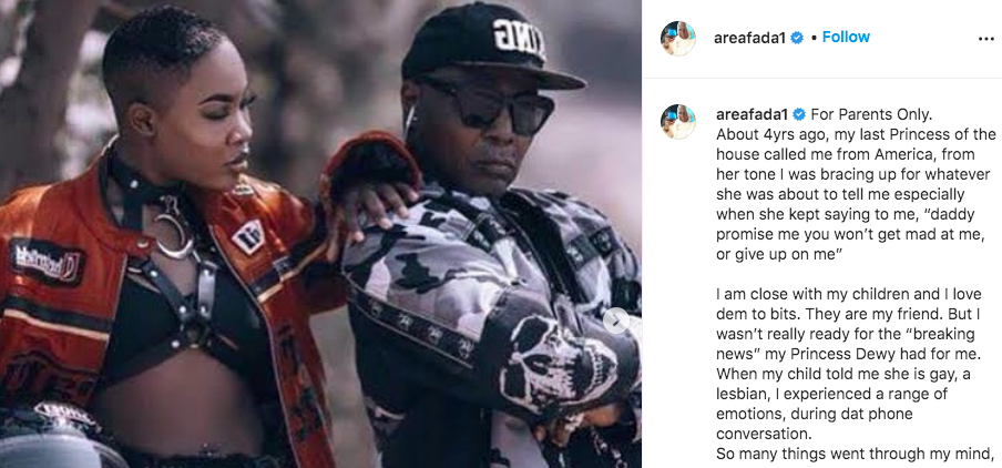 Dewy, Charly Boy'S Daughter Blasts Him For Lying About Accepting Her Sexuality 1