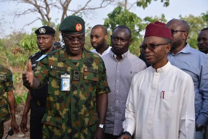 Kaduna State Governor, Nasir El Rufai And Security Operatives In The State