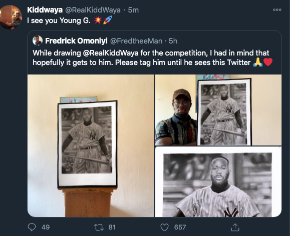 Kiddwaya In Another Form As Artist Impressed Him (See Photo) 2