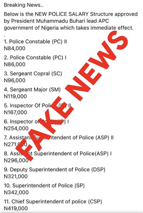 Nigeria Police Force Raises Alarm Over New Salary Structure 1