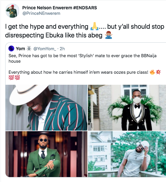 Prince Cautions Fans About Ebuka