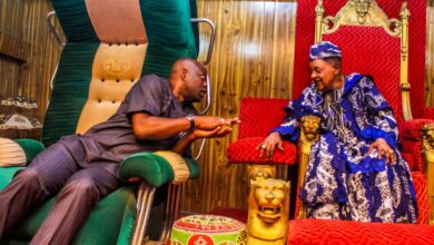 The Oyo State Governor, Seyi Makinde And The Alaafin Of Oyo