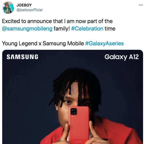 Joeboy With Samsung